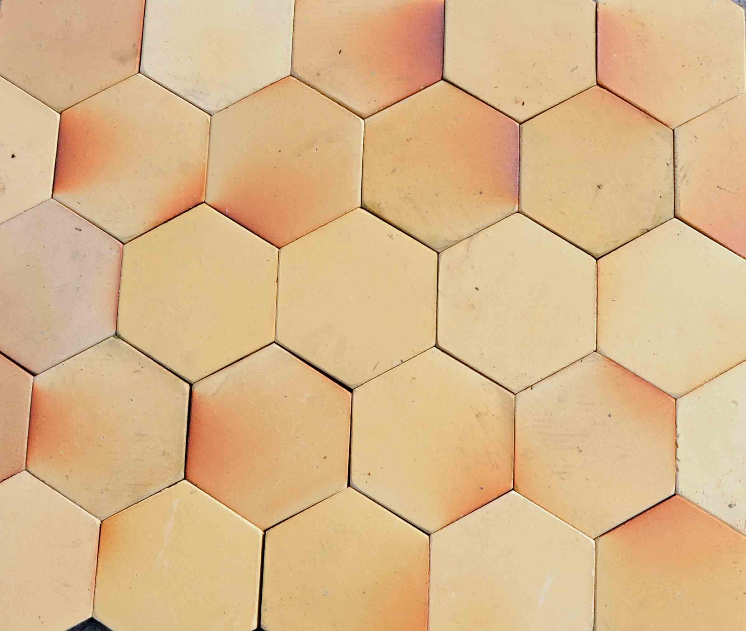 sechseck ziegelplatten gelb