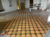 Fußbodenmosaik in Marienburg Festung